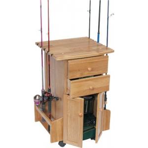Cabela's 10-Rod Cabinet Rack - Oak