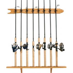 Organized Fishing 8-Rod Modular Rack - Oak