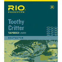 RIO Toothy Critter Hand-Tied Leaders - Clear/Silver (30 LB)