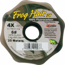 Frog Hair Fluorocarbon Tippet - 25m Spool (7X)