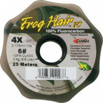 Frog Hair Fluorocarbon Tippet - 100m Guide Spool (3X)