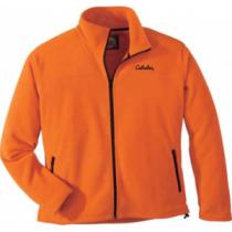 Cabela's Men's Base Camp Fleece Blaze Jacket - Blaze Orange (2 X-Large)