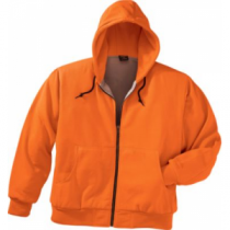 Cabela's Men's Blaze Thermal Hooded Full Zip Jacket Regular - Blaze Orange (2XL)
