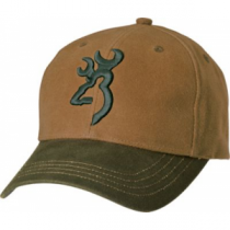 Browning Men's Logo Caps - Acorn/Olive (ONE SIZE FITS MOST)