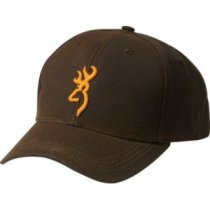 Browning Men's Dura-wax 3-D Buckmark Cap Brown (ONE SIZE FITS MOST)