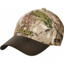 Cabela's Men's Embroidered Deer Logo Cap - Zonz Woodlands 'Camouflage' (ONE SIZE FITS MOST)
