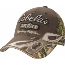 Cabela's Men's Brown/Infinity Flame Logo Cap - Mo Break-Up Infinity (ONE SIZE FITS MOST)