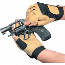 Cabela's Men's Leather Handgun Gloves - Tan (XL)
