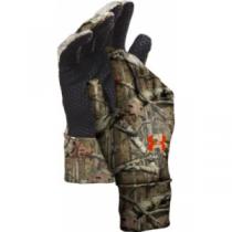 Under Armour Men's ColdGear Liner Gloves - Black/Black (MEDIUM)