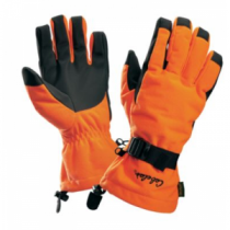 Cabela's Men's Silent-Suede Gloves with Thinsulate and 4MOST DRY-Plus - Blaze Orange (MEDIUM)