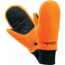 Cabela's Kids' Big-Game Fleece Mittens - Blaze Orange (LARGE)