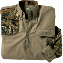 Cabela's Men's Classic II Right-Hand Shooting Shirt Regular - Tundra/Maple 'Olive Green' (Large)
