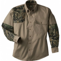 Cabela's Men's Classic II Right-Hand Shooting Shirt Tall - Tundra/Maple 'Olive Green' (2XL)