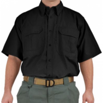 5.11 Tactical Cotton Short-Sleeve Shirt - Black (2XL)