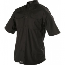 BLACKHAWK! Warrior Wear Men's Lightweight Tactical Short-Sleeve Shirt - Black (LARGE)
