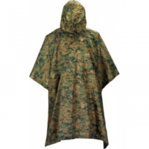 Tru-Spec Men's Military-Spec Lightweight Ripstop Poncho - Woodland (ONE SIZE FITS MOST)