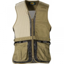 Cabela's Men's Targetmaster II Shooting Vest Right Hand - Tundra 'Dark Brown' (SMALL)