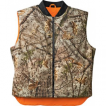 Cabela's Men's Ultimate Suede Weather-Block Reversible Vest - Zonz Western 'Camouflage' (3XL)