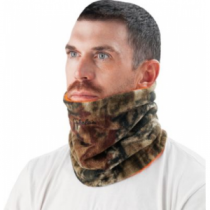 Cabela's Men's Reversible Fleece Neck Gaiter - Realtree Xtra/Blaze (ONE SIZE FITS MOST)