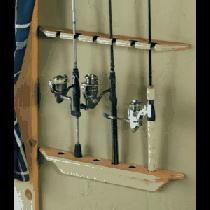 Cabela's Six-Rod Wood Rod Rack - Natural
