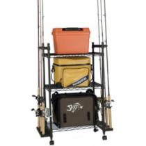 Organized Fishing Tackle Trolley - Black (REGULAR)