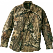 Cabela's Men's Microtex Shirt Regular - Outfitter Camo (MEDIUM)