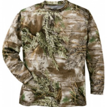 Cabela's Men's Hunt Tech Long-Sleeve Tee - Realtree Ap Hd 'Camouflage' (LARGE)