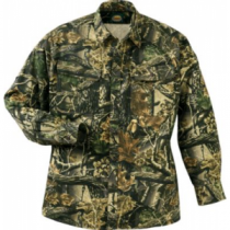 Cabela's Men's Camouflage Seven-Button Shirt with 4MOST UPF Regular - Seclusion 3-D (MEDIUM)