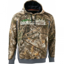 Cabela's Men's ColorPhase Hunt Varsity Logo Hoodie with 4MOST Adapt - Zonz Woodlands 'Camouflage' (LARGE)
