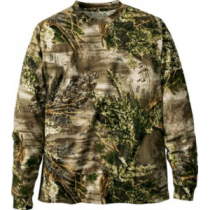 Cabela's Men's Hunting Zone Long-Sleeve Camo Tee Shirt - Mossy Oak Brush 'Tan' (3XL)