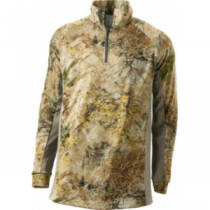 Cabela's Men's Supertec by Medalist 1/4-Zip Long-Sleeve Top - Zonz Woodlands 'Camouflage' (LARGE)