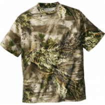 Cabela's Men's 100% Cotton Short-Sleeve Camo Tee - Mossy Oak Brush 'Tan' (3XL)