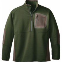 Cabela's Men's Merino Tech 1/2-Zip Long-Sleeve Top - Pine Ridge 'Sea Green' (MEDIUM)