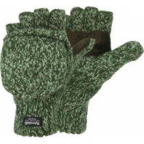 Hot Shot Ragg Wool Pop-Top Glomitts - Green Camo (ONE SIZE FITS MOST)