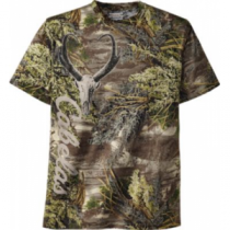 Cabela's Men's Antelope Skulls Short-Sleeve Camo Tee Shirt - Max-1 'Green' (3XL)