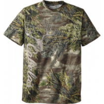 Cabela's Men's Mule-Deer Skull Short-Sleeve Camo Tee Shirt - Max-1 'Green' (XL)