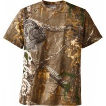 Cabela's Men's Turkey Short-Sleeve Tee Shirt - Realtree Xtra 'Camouflage' (2XL)