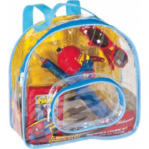 Shakespeare Spider-Man Backpack Fishing Kit - Clear