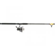 Zebco Catfish Fighter Spinning Combo - Red, Freshwater Fishing