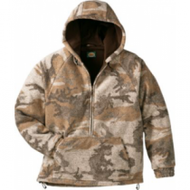 Cabela's Men's Outfitter's Wooltimate Hooded Pullover with 4MOST WindShear - Zonz Western 'Camouflage' (LARGE)