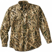 Cabela's Men's Silent Weave Waterfowler's Seven-Button Shirt - Mo Shdw Grass Blades 'Camouflage' (SMALL)