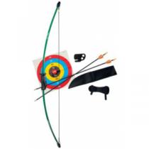 Bear Archery Youth 1st Shot Bow Set - Green, Flo Green, Flo Orange