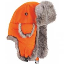 Mad Bomber Youth Fur-Trim Hat - Blaze 'Orange' (SMALL)