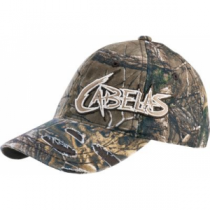 Cabela's Youth Aggressive Logo Camo Cap - Realtree Xtra 'Camouflage' (ONE SIZE FITS MOST)