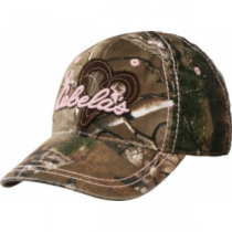 Cabela's Girls' Hearts Camo Cap - Realtree Xtra 'Camouflage' (ONE SIZE FITS MOST)
