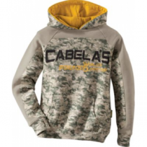 Cabela's Youth Progressive Hunt Hoodie - Army Digital (SMALL)