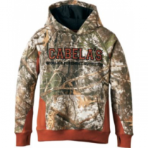 Cabela's Youth ColorPhase Hoodie with 4MOST Adapt - Zonz Woodlands/Green (XL)