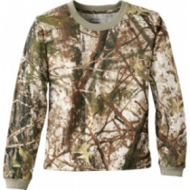 Cabela's Youth ColorPhase Long-Sleeve Tee Shirt with 4MOST Adapt - Zonz Woodlands 'Camouflage' (MEDIUM)