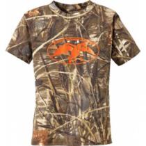 Duck Commander Youth Camo Short-Sleeve T-Shirt - Max 4/Pink (MEDIUM)