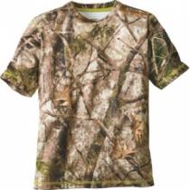 Cabela's Youth Performance Camo Short-Sleeve Tee Shirt - Zonz Woodlands 'Camouflage' (2XL)